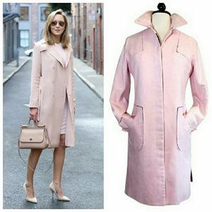 Tocca Jackets & Blazers - Tocca Pink Stretch Trench Coat