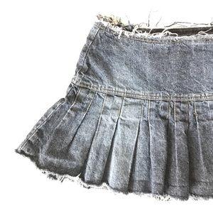 Xhilaration Pleated Denim Jean Mini Skirt size 7