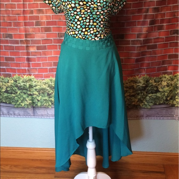 ark co ark co beautiful turquoise high low skirt