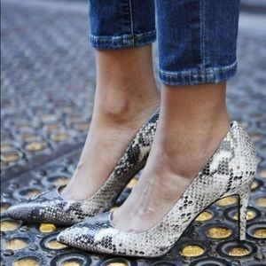 Banana Republic Snake Print Pumps 