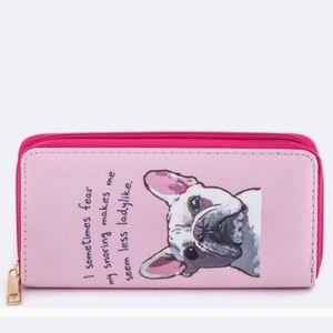 October Love Handbags - 🐕 🆕 Bulldog Wallet