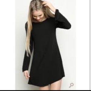 Brandy Melville Dresses & Skirts - Brandy Melville Black Long Sleeve  Tunic Dress