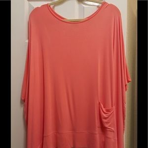 Diane Gilman Tops - Peach Poncho Top with Pocket! NWOT