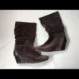 Camper Shoes - Brown suede and leather Camper brand boots