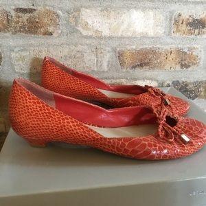 Nine West kitten heels bow Pumps