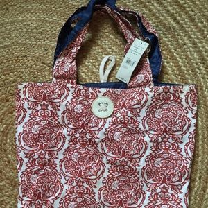 Necessary Objects Handbags - Necessary Objects Cloth Tote Baroque Red NEW 🌺