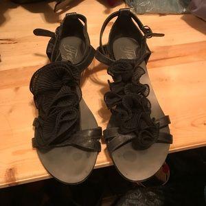 Fergie Shoes - Fergie black dressy sandals size 8.5