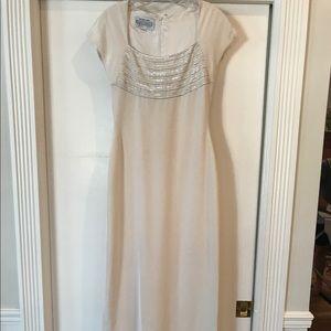 Carolina Herrera Dresses & Skirts - Carolina Herrera silk cream long dress (maxi)