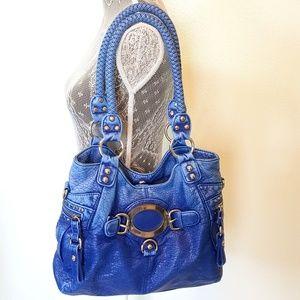 Wilsons Leather Handbags - WILSON'S LEATHER BLACK RIVET distressed leather