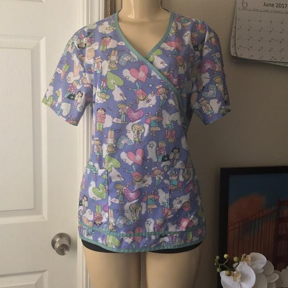 5447d8d6189dc LIANA:| Medical Scrubs Top. Women's:Size:MEDIUM.