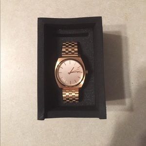 "Nixon Accessories - Women's Nixon ""Time Teller"" Watch Rose Gold"