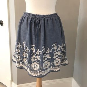 kersh Dresses & Skirts - Boutique chambray embroidered skirt