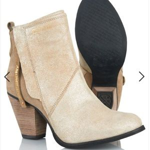 Superdry Shoes - Superdry Dillanger golddust booties Rose Gold pull