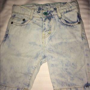 Zara Other - Zara Kids Light Blue Bleached Denim Shorts
