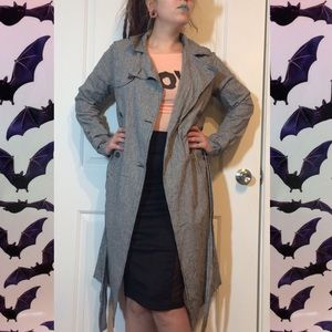 Houndstooth duster jacket