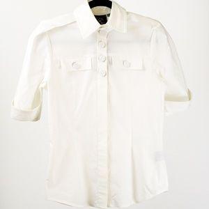 L.A.M.B. Tops - L.A.M.B. White Short-Sleeved Button Down