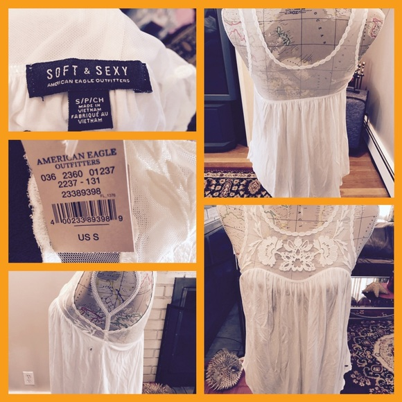 370c1ee9d845c BNWT American Eagle Soft   Sexy Lace Tank Top