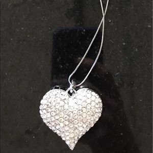 Swarovski Jewelry - Swarovski crystal necklace rhinestone heart large