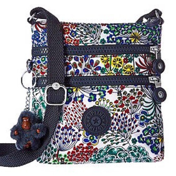 49abf2f061 Kipling XS Alvar Little Flower Navy Crossbody Bag