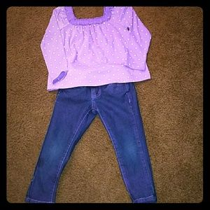 GAP Other - Toddler shirt purple with white dots