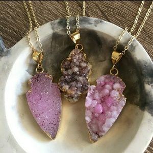 Simple Sanctuary Jewelry - Sale 🌸 Stunning Natural Druzy Stone Necklace