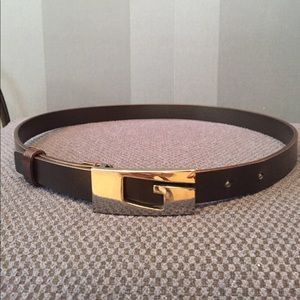 98e9f0ec9c2 Gucci Accessories - Dark brown black Gucci G belt sz small authentic!