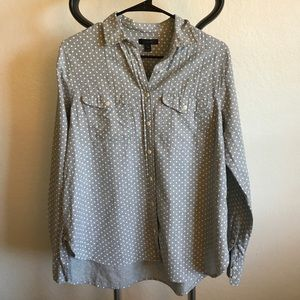 J. Crew Polka Dot Button Down Shirt