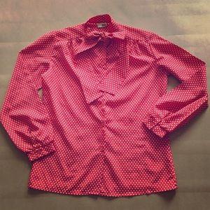 Sears Tops - Vintage Polkadot Shirt