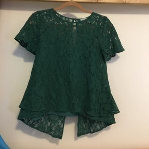 NWOT Green Lace Top from Modcloth (Includes Liner)