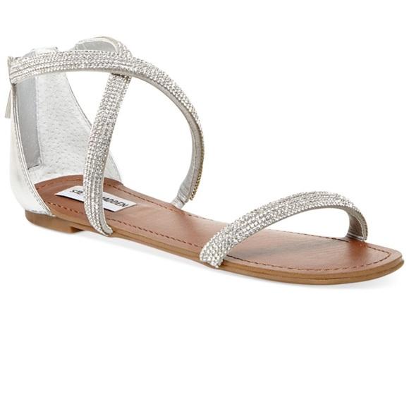 670293dae Steve Madden Metallic Zsaza Bling Flat Sandals. M 591724f33c6f9fd1ec007c5c