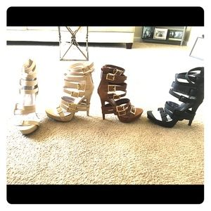 Shoes - Summer sexy strap heels.. only blk/ tan available