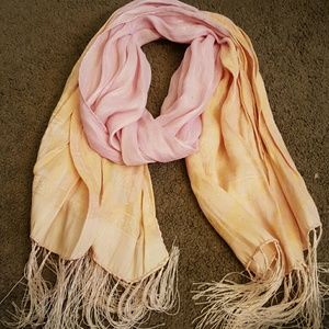 Francesca's Collections Accessories - Francesca's Pink and Orange Scarf