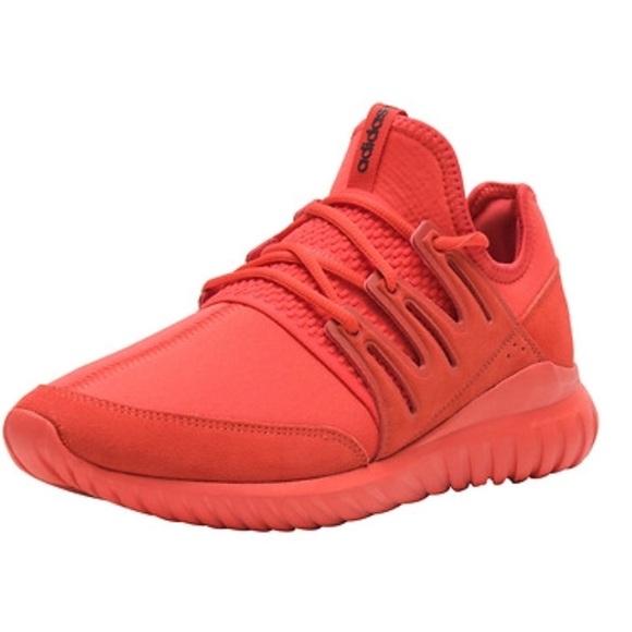 8296dc56b58 Adidas Mens Turbular Radial Sneakers In Red.