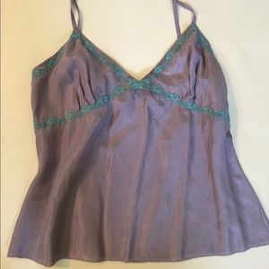 Boden Tops - Boden Silk Cami with Lace