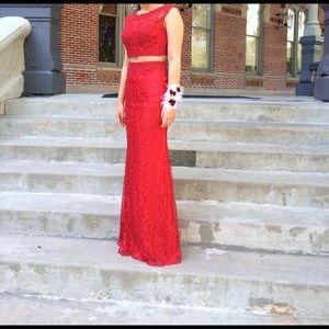 Sherri Hill Dresses & Skirts - Clarisse Lipstick RED Two-Piece Prom Dress