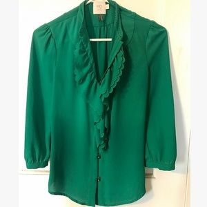 Anthropologie HD in Paris Picea ruffled blouse