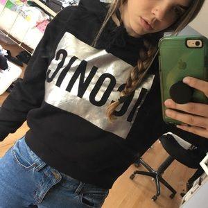 Black ICONIC Forever 21 Hoodie Sweatshirt