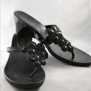 Kenneth Cole Reaction Shoes - KENNETH COLE REACTION Embellished Black Sandals