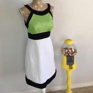 Sangria Dresses & Skirts - Sangria Color Blocked Sleeveless Midi Dress NWT