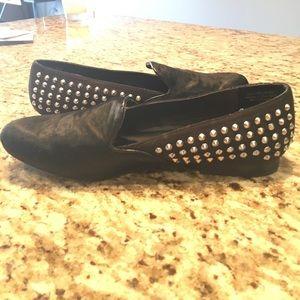 NWT 9.5 Kelsi Dagger blk calf hair loafers