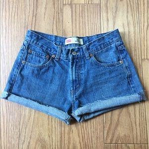 Levi's Pants - Levi's high waist cut off's sz 28