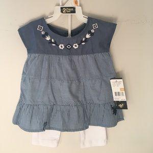 U.S. Polo Assn. Other - U.S.POLO ASSN. baby girl 2piece set dress