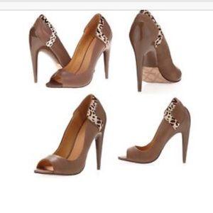 L.A.M.B. Shoes - L.A.M.B leather hair calf leopard print heels New