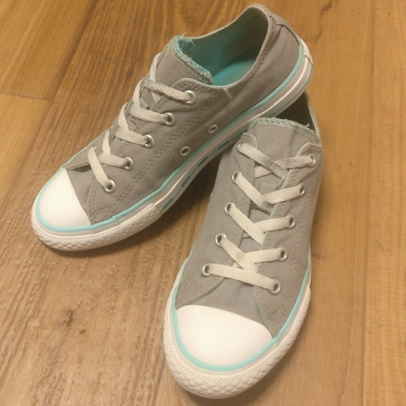 f60dbb795c5 Converse Shoes - Grey and Teal Low Top Converse