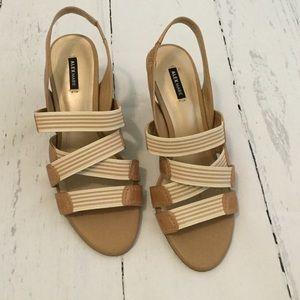 Alex Marie Shoes - Tan Elastic Strap Sandals
