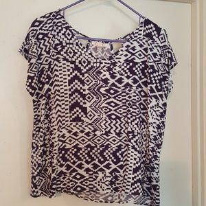 Skies are blue Tops - Skies are blue stitch fix top. Navy Blue design.