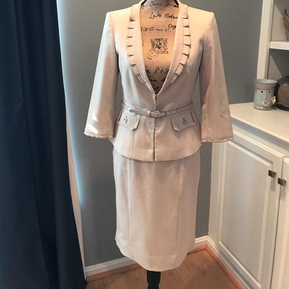 White House Black Market Skirts Classy Womens Tan Suit Whbm Poshmark