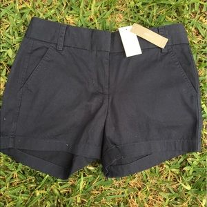 J. Crew Pants - J. Crew Black CHINO SHORTS !! NWT !!