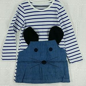 Other - Blue strips kitty dress. Kids