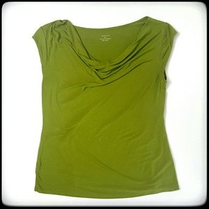 Grace Tops - Grace cowl neck green short sleeve top